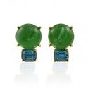 Peridot and Aqua Earrings
