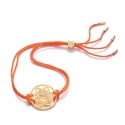 24k Gold Gloss Orange Sacral Chakra Bracelet