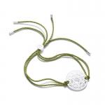 Daisy Sterling Silver Green Heart Chakra Bracelet