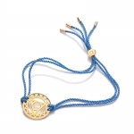 Daisy 24k Gold Gloss Blue Throat Chakra Bracelet