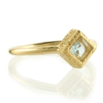 Blue Topaz Shimmer Stacking Ring by Assya