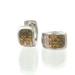 Glitter Champagne Chameleon Earrings by Babette Wasserman