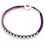 Purple Friendship Bracelet by Daisy Jewellery