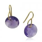 Leo Amethyst Earrings by Monica Vinader