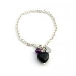 Onyx heart bracelet by Karen Morrison