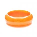 Orange Resin Bangle by Mirabelle