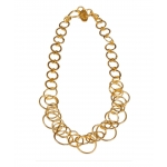 22k Gold Plate Lolita Loop Necklace by Mirabelle