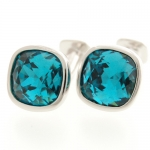 Crystal Cushion Cufflinks by Babette Wasserman