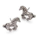 Pewter Horse Charm Earrings by Gemma Lister