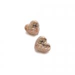 Electra Rose Gold Heart Earrings by Babette Wasserman