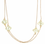 Rose Gold Clover Necklace Babette Wasserman