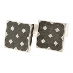City Black Check Cufflinks by Babette Wasserman