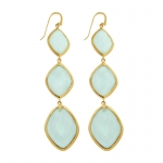 Chalcedony Cocktail Drop Earrings by Missoma