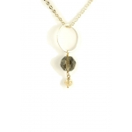 Gold Crystal necklace by YLA