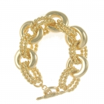 Gold Link Bracelet by Kenneth Jay Lane
