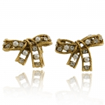 Antique Bow Earrings by Kenneth Jay Lane