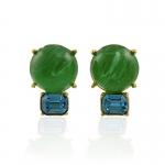 Peridot and Aqua Earrings by Kenneth Jay Lane