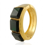 Gold Emerald Cuff by Kenneth Jay Lane