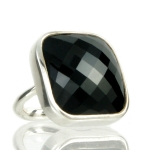 Black Onyx Cocktail ring by Monica Vinader
