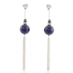 Purple deco earrings by Karen Morrison