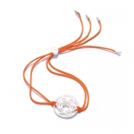 Daisy Sterling Silver Orange Sacral Chakra Bracelet